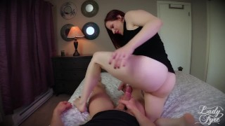 Fucked by Twin Sisters -Lady Fyre femdom redhead red-hair twin-sister taboo milf ladyfyre cheating lady-fyre hairy-pussy olivia-fyre twins pov laz-fyre butt point-of-view
