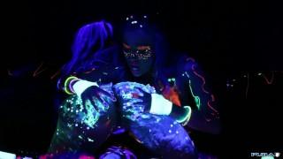 Black Light Rainy Night with Abigal Mac & Ava Addams