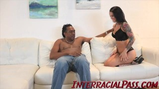 4K Katrina Jade gets tamed by the Biggest Black Cock!  pierced nipples big cock interracialpass tattoo busty hardcore butt dredd hottie drilled big boobs big hard black cock shaved pussy monster cock hard fast fuck