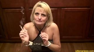 Blonde Milf Mature Smoking Facefucking CumSlut