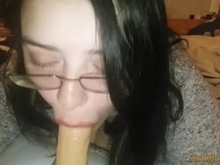 More blowjob practice