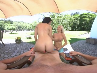 Cayla Lyons and Alex Black In Intense Outdoor Summer VR Scenes