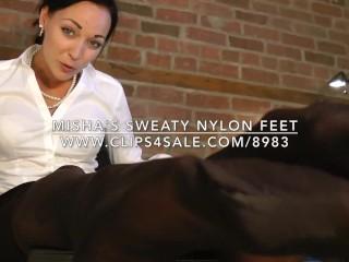 Misha's Sweaty Nylon Feet - www.c4s.com/8983/16548924