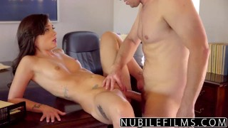 NubileFilms - Sexy Brunette Twerkin On Dick nubilefilms young hardcore gia paige riding dick blowjob babe shaved cumshot small-tits brunette cowgirl big-dick skinny ass-licking petite