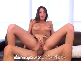 CastingCouch-X - Hot brunette Brooke Myers First porn audition