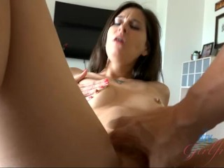Kacie Castle's hot mouth and talented hands make you cum