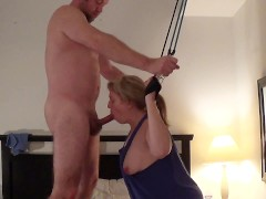 Punish, bondage, anal fuck and cum on face of masturbating cleaning lady