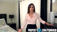 PropertySex - Sexy real estate agent with big ass fucks boss to keep job