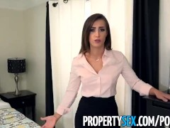 PropertySex – Sexy real estate agent with big ass fucks boss to keep job