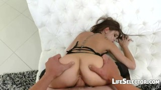 A day with Riley Reid  doggy style interactive porn ass oral-sex big-tits riley-reid point-of-view blowjob pov lifeselector hardcore natural-tits girlfriend brunette petite small-tits interactive vaginal-sex