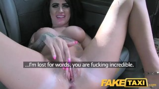 FakeTaxi One night stand gets arse fucked  british point-of-view dirty blowjob public pov camera rimming spycam car rough dogging gagging deepthroat anal faketaxi