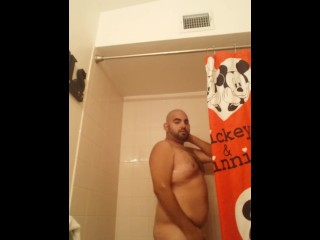 Finishing up in the shower