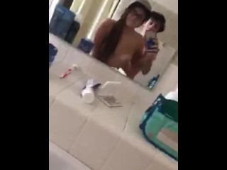 hot tatted and pierced college teen gets fucked in dorm bathroom