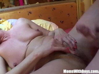 Resting Old Mama Receives A Hard Anal Treat