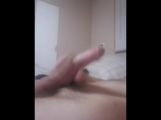 Long cock self stroke tease
