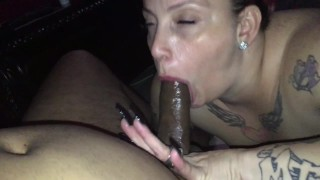 POV hidden camera caught wifey sucking the shit out of a BBC