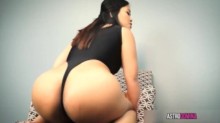 Cum For My Asian Ass  brunette kink butt close up joi ass worship big booty big ass big butt femdom pov asian