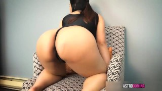 Cum For My Asian Ass  brunette kink butt close up joi ass worship big ass big booty big butt femdom pov asian
