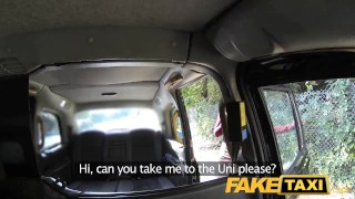 FakeTaxi Innocent teen takes on big cock  british teen oral-sex outside oral point-of-view public camera faketaxi young spycam car shy teenager dogging taxi