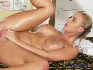 Massage Rooms Horny big boobs blonde sucks and fucks meaty cock