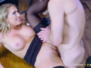 Kagney Linn Karter takes big dick at work - Brazzers