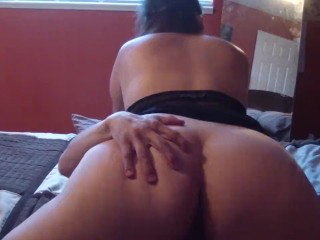 My pussy fucked until he cums on my ass