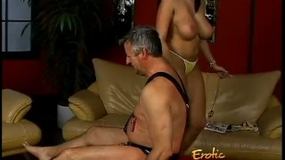 Lusty stunner Gianna Michaels really enjoys spanking a latex-clad stallion  big tits spanking dominatrix babe bdsm femdom pornstar toys hardcore brunette latex bondage whipping gianna michaels shaved pussy