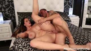 Alisons wet throbbing pussy gets stuffed by chad