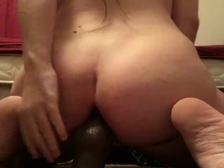 Chubby Boy With Big Ass Rides Dildo In Panties