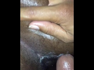 Digging in my girl wet and creamy pussy