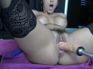 First Time With My Fuck Machine and Squirt by Vic Alouqua