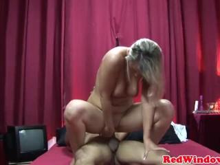 Real dutch prostitute cockriding tourist