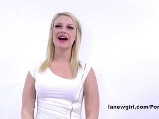 TEEN MODEL CUMS HARD AT CASTING AUDITION