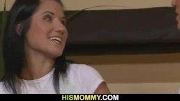 Horny mommy seduces her son&am