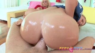 PervCity Football Sunday Fucking Her Tight End  ass fuck big tits hairy pussy licking ass pervcity blonde blowjob big dick cumshots 3some shaved tight threesome anal fake tits