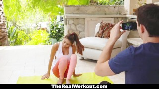 Preview 4 of TeamSkeet - Teen Yoga Trainer Seduces Nerd