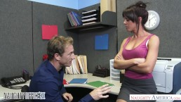Rahyndee James gets fucked good and hard in the office - Naughty America