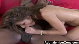Preview 5 of AdultMemberZone - Busty white whore craves massive black dick