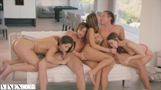 Preview 5 of VIXEN Riley Reid, August Ames and Abella Danger's Day Out