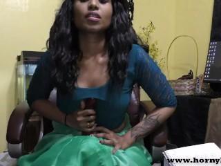 Hindi Sex teacher gives a JOI