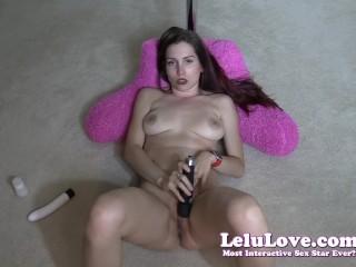 Lelu Love-Overhead Dildo And Vibrator Masturbation