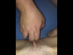 Step brother makes step sister squirt after a long night of drinking