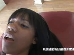 Ebonny coed Momoko Mitchell takes a dick in her teen twat