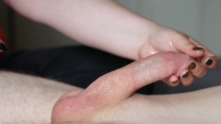 Handjob Techniques 1  edging manscaping hardcore tug handjob technique handjob tease tease big cock cumshot tugging thick cock oiled