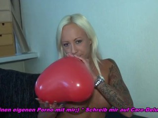teen ballooning in her pussy