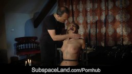 Ball gagged and dildo cunt smashed big tits blonde is fucked merciless