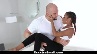 ExxxtraSmall - Petite Ebony Bounces On A Stiff Big Cock  team skeet piercings big cock ebony black small tits skinny big dick interracial pierced petite shaved facial cum shot kendall woods exxxtrasmall small frame