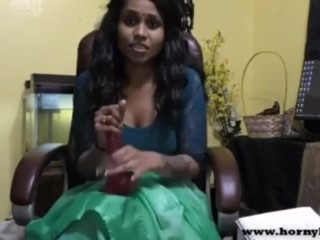 indian horny sex teacher teaches how to masterbate