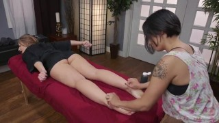 Savanna Fox, Milcah Halili  strap on ass fuck ass gaping femdom asian blonde tattoo massage domination toys kink brunette gape everythingbutt girl on girl