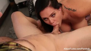 Preview 6 of Alison drains Chad's cock with her mouth